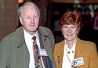 Tony Megahy, MEP, Labour Party, UK, with his wife, Jean Megahy, annual conference, September 1994. 19940929TM1<br />