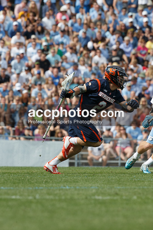 CHAPEL HILL, NC - APRIL 11: Kevin Rice #2 of Syracuse Orange plays against the North Carolina Tar Heels on April 11, 2015 at Fetzer Field in Chapel Hill, North Carolina. North Carolina won 17-15. (Photo by Peyton Williams/US Lacrosse/Getty Images) *** Local Caption *** Kevin Rice