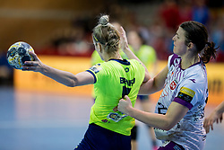 Aneta Benko of RK Krim Mercator during handball match between RK Krim Mercator and FC Midtjylland in Main Round of Women's EHF Champions League 2017/18 , on January 27, 2018 in Sports hall Kodeljevo, Ljubljana, Slovenia. Photo by Urban Urbanc / Sportida