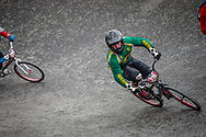 Cruiser - 40-44 Men #216 (O'BRIEN Tim) RSA at the 2018 UCI BMX World Championships in Baku, Azerbaijan.