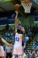 November 24 2015: Kansas Jayhawks Perry Ellis with short jumper during the Maui Invitational at  Lahaina Civic Center on Maui, HI. (Photo by Aric Becker)