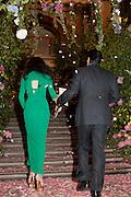 MR. AND MRS. AMJAD BSEISU, Triennial Summer Ball, Royal Academy. Piccadilly. London. 20 June 2011. <br /> <br />  , -DO NOT ARCHIVE-© Copyright Photograph by Dafydd Jones. 248 Clapham Rd. London SW9 0PZ. Tel 0207 820 0771. www.dafjones.com.