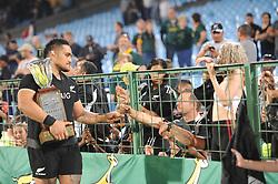 Pretoria, Loftus Versveld Stadium. Rugby Championship. South African Springboks vs New Zealand All Blacks.  06-10-18 All Black player Ofa Tuungafasi walks past fans after the game.<br /> Picture: Karen Sandison/African News Agency(ANA)