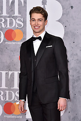 February 20, 2019 - London, United Kingdom of Great Britain and Northern Ireland - AJ Pritchard arriving at The BRIT Awards 2019 at The O2 Arena on February 20, 2019 in London, England  (Credit Image: © Famous/Ace Pictures via ZUMA Press)