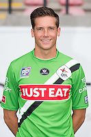 OHL's goalkeeper Yves Lenaerts pictured during the 2015-2016 season photo shoot of Belgian first league soccer team OH Leuven, Monday 13 July 2015 in Leuven.