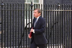 "© Licensed to London News Pictures. 29/08/2013. London, UK. The Welsh Secretary David Jones arrives for a meeting of the British cabinet on Downing Street in London today (29/08/2013) as a recalled British Parliament prepares to debate the possibility of ""direct"" military action over recent reports an alleged chemical weapons attack in Syria. Photo credit: Matt Cetti-Roberts/LNP"