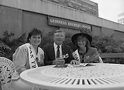 Roses of Tralee at Guinness Brewery..1986.20.08.1986..08.20.1986..20th August 1986..As part of the 50th running of the Rose Of Tralee Festival the thirty Rose contestants were invited to The Guinness Brewery,St James's Gate,Dublin. At the reception in their honour, Mr Pat Healy,Sales Director,Guinness Group Sales,welcomed the roses at the Guinness Reception Centre..Extra: Ms Noreen Cassidy,representing Leeds,went on to win the title of 'Rose Of Tralee'.