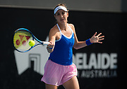 Belinda Bencic of Switzerland in action during her quarter-final match at the 2020 Adelaide International WTA Premier tennis tournament against Danielle Collins of the United States. Photo Rob Prange / Spain ProSportsImages / DPPI / ProSportsImages / DPPI