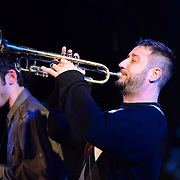 Trumpeter and PMAC faculty member Chris Klaxton performs in Jazz Night 2013 at The Loft in Portsmouth, NH