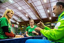 MEGLIC Barbara (SLO) and DOLINAR Andreja (SLO) with LUKEZIC Bojan (SLO) during Team events at Day 3 of 16th Slovenia Open - Thermana Lasko 2018 Table Tennis for the Disabled, on May 10, 2019, in Dvorana Tri Lilije, Lasko, Slovenia. Photo by Grega Valancic / Sportida