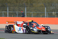 Bert Longin (BEL) / Giorgio Maggi (CHE) / Marcello Marateotto (CHE)  #8 Race Performance, Ligier JS P3, Nissan VK50VE 5.0 L V8, during the Race  as part of the ELMS 4 Hours of Silverstone 2016 at Silverstone, Towcester, Northamptonshire, United Kingdom. April 16 2016. World Copyright Peter Taylor. Copy of publication required for printed pictures.