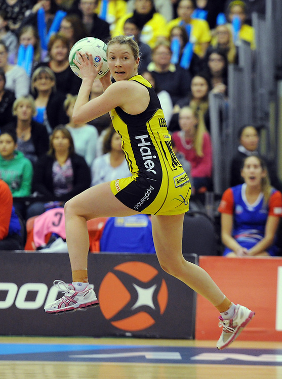 Pulse's Camilla Lees against the Mystics in the ANZ Championship netball, Arena Manawatu, Palmerston North, New Zealand, Sunday, May 18, 2014. Credit:SNPA / Ross Setford