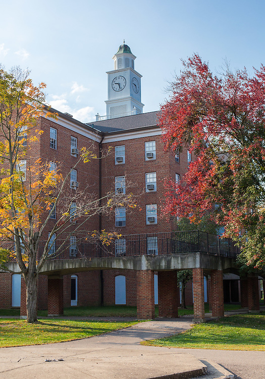 The fall foliage is full of vibrant colors on South Green at Ohio University.