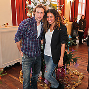 NLD/Amsterdam/20101208 - Skyradio Christmas Tree for Charity 2010, Laurette Gerards en Dirk Taat