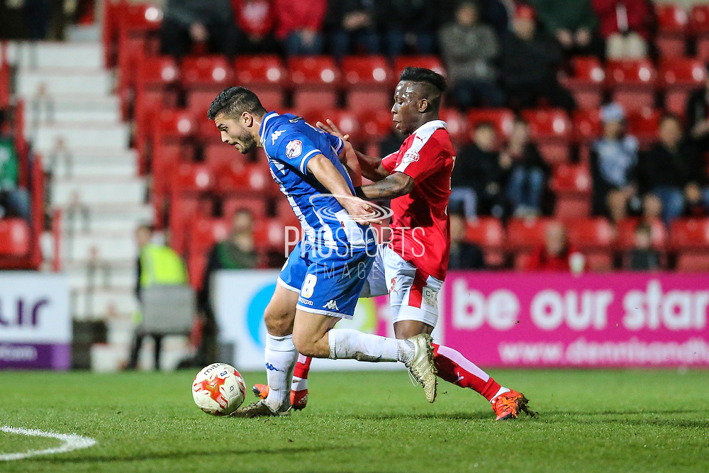 Wigan's goalscorer Sam Morsy on the ball during the Sky Bet League 1 match between Swindon Town and Wigan Athletic at the County Ground, Swindon, England on 25 March 2016. Photo by Shane Healey.
