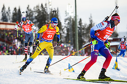 March 10, 2019 - –Stersund, Sweden - 190310 Jesper Nelin of Sweden and Tomas Hasilla of Slovakia during the Men's 12,5 km Pursuit during the IBU World Championships Biathlon on March 10, 2019 in Östersund..Photo: Petter Arvidson / BILDBYRÃ…N / kod PA / 92255 (Credit Image: © Petter Arvidson/Bildbyran via ZUMA Press)