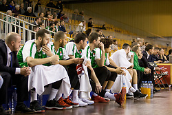 Players of Petrol Olimpija during Basketballl match between Petrol Olimpija Ljubljana and KK Cedevita in Round #18 of ABA League, on January 27, 2018 in Tivoli sports hall, Ljubljana, Slovenia. Photo by Urban Urbanc / Sportida