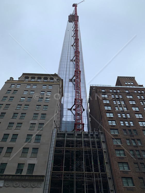 Building going up on 57th Street in New York City