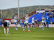 Dundee players applaud the travelling fans at the end  - Inverness Caledonian Thistle  v Dundee, Ladbrokes Scottish Premiership at Caledonian Stadium <br /> <br />  - © David Young - www.davidyoungphoto.co.uk - email: davidyoungphoto@gmail.com