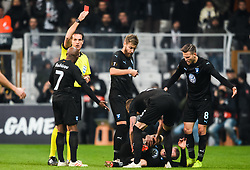 December 13, 2018 - Istanbul, Turkey - 181213 Referee Luca Bonti gives a red card to Ricardo Quaresma of Besiktas (not in picture) during the Europa league match between Besiktas and MalmÅ¡ FF on December 13, 2018 in Istanbul..Photo: Petter Arvidson / BILDBYRN / kod PA / 92175 (Credit Image: © Petter Arvidson/Bildbyran via ZUMA Press)