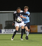 Falkirk's Taylor Morgan and Dundee's Matty Allan - Falkirk v Dundee, Under 20s Development League at Falkirk Stadium<br /> <br />  - &copy; David Young - www.davidyoungphoto.co.uk - email: davidyoungphoto@gmail.com