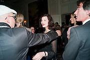SIMON COSTIN; JASMINE GUINNESS, Dinner to mark 50 years with Vogue for David Bailey, hosted by Alexandra Shulman. Claridge's. London. 11 May 2010