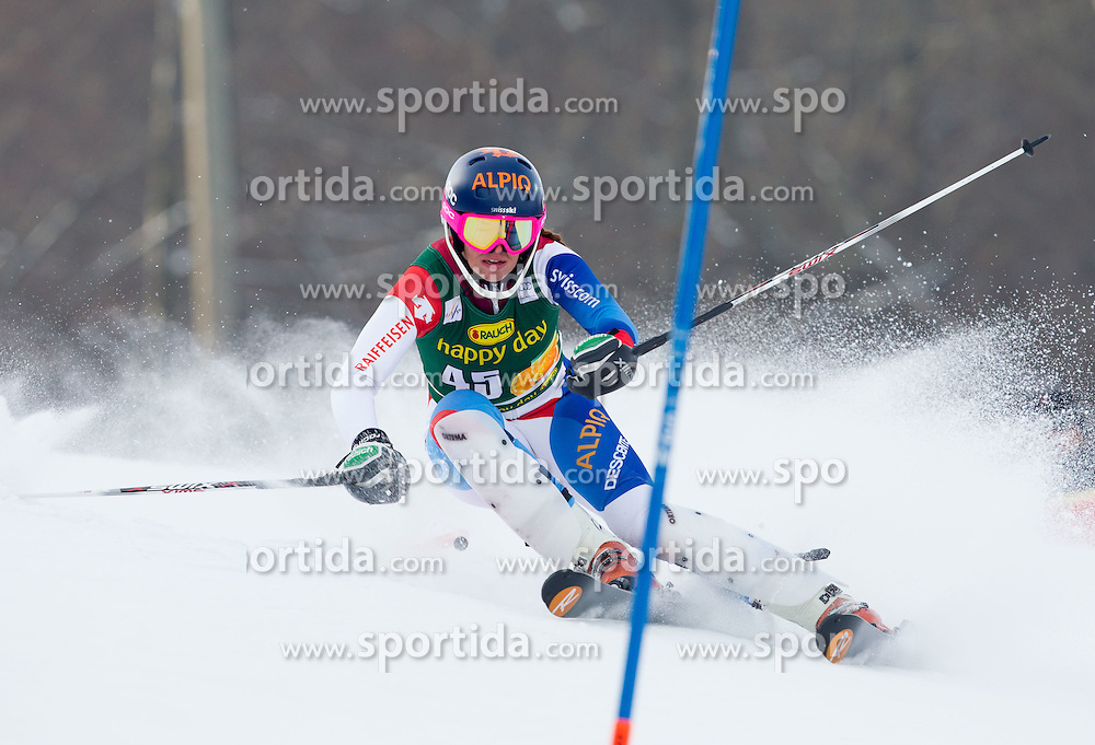 "GISIN Michelle (SUI) competes during 1st Run of FIS Alpine Ski World Cup 7th Ladies' Slalom race named ""49th Golden Fox 2013"", on January 27, 2013 in Mariborsko Pohorje, Maribor, Slovenia. (Photo By Vid Ponikvar / Sportida.com)"