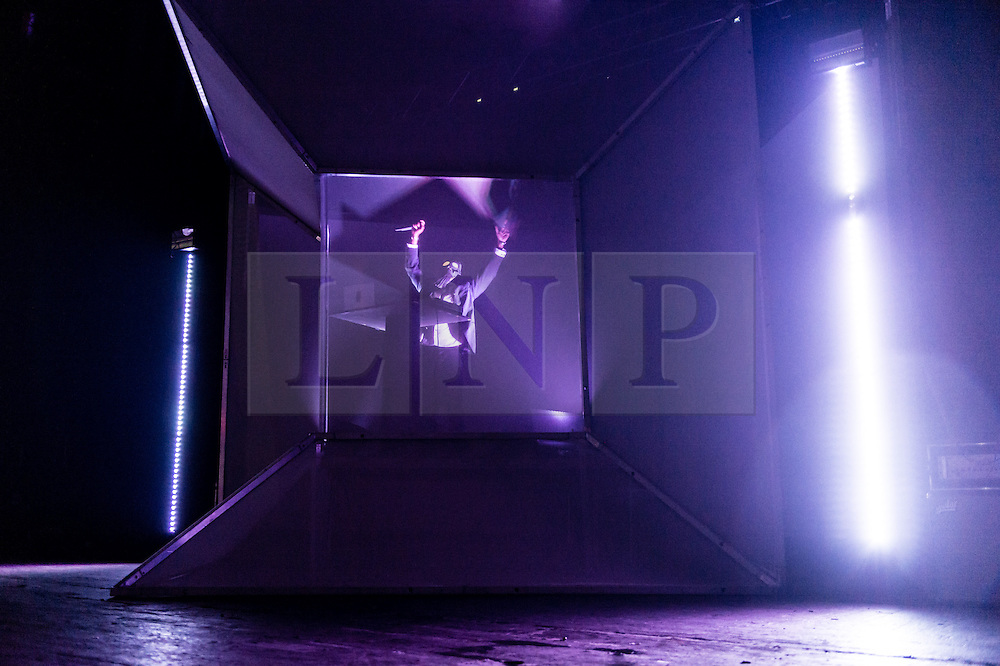 © Licensed to London News Pictures. 01/05/2015. London, UK.   Flying Lotus performing live at Brixton Academy.   Flying Lotus is Steve Ellison, is an experimental multi-genre music producer, electronic musician and rapper from Los Angeles, California.  Photo credit : Richard Isaac/LNP