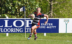 Claire Molloy of Bristol Ladies crosses the line to score - Mandatory by-line: Paul Knight/JMP - 09/04/2017 - RUGBY - Cleve RFC - Bristol, England - Bristol Ladies v Saracens Women - RFU Women's Premiership Play-off Semi-Final