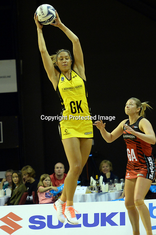Central Pulse's Phoenix Karaka in action during the ANZ Premiership Netball match between Central Pulse v Mainland Tactix, TSB Arena, Sunday 09th April 2017. Copyright Photo: Raghavan Venugopal / www.photosport.nz