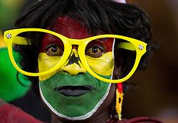 02.07.2010, Soccer City Stadium, Johannesburg, RSA, FIFA WM 2010, Viertelfinale, Uruguay (URU) vs Ghana (GHA) im Bild Ghana Fan mit grosser Brille, EXPA Pictures © 2010, PhotoCredit: EXPA/ Sportida/ Vid Ponikvar, ATTENTION! Slovenia OUT