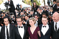 Nick Cave, Guy Pearce, Mia Wasikowska, Dane Dehaan, John Hillcoat, attend the gala screening of Lawless at the 65th Cannes Film Festival. The screenplay for the film Lawless was written by Nick Cave and Directed by John Hillcoat. Saturday 19th May 2012 in Cannes Film Festival, France.