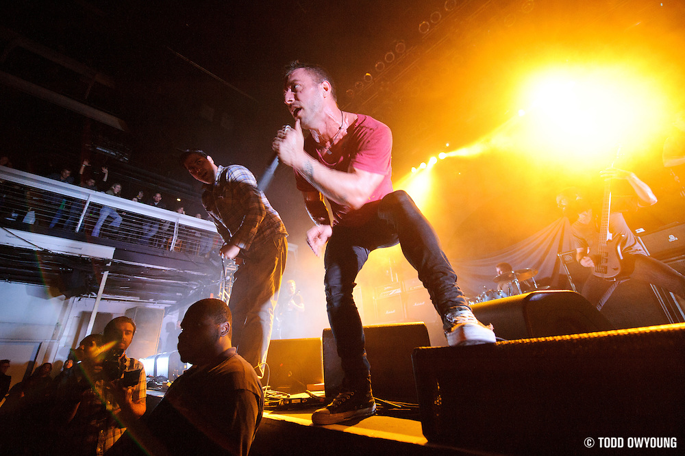 The Dillinger Escape Plan performing at Terminal 5 in New York City on November 19, 2011. © Todd Owyoung.