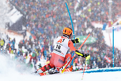 21.01.2018, Hahnenkamm, Kitzbühel, AUT, FIS Weltcup Ski Alpin, Kitzbuehel, Slalom, Herren, 1. Lauf, im Bild Leif Kristian Nestvold-Haugen (NOR) // Leif Kristian Nestvold-Haugen of Norway in action during his 1st run of men's Slalom of FIS ski alpine world cup at the Hahnenkamm in Kitzbühel, Austria on 2018/01/21. EXPA Pictures © 2018, PhotoCredit: EXPA/ Johann Groder