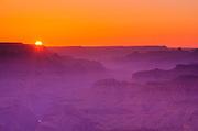 Sunset over the Grand Canyon, Grand Canyon National Park, Arizona USA