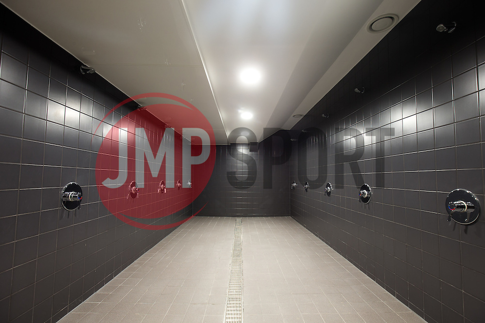 New home team wash facilities in the Lansdown Stand at Ashton Gate - Rogan Thomson/JMP - 30/01/2017 - SPORT - Ashton Gate Stadium - Bristol, England - New West Stand Facilities.