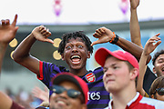 Arsenal fans cheering for their team in a game against Fiorentina during an International Champions Cup game, Saturday, July 20, 2010, in Charlotte, NC. Arsenal defeated Fiorentina 3-0. (Brian Villanueva/Image of Sport)