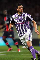 Andre-Pierre Gignac in action for Toulouse. Toulouse v Paris St Germain,French Ligue 1, Stade Municipal, Toulouse, France, 22nd March 2009.