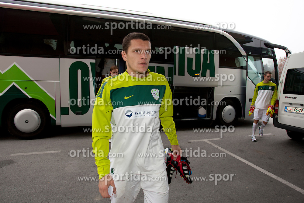 Darijan Matic during the Slovenia training before friendly match between National teams of Slovenia and ZDA at Kidricevo, on  9th November, 2011 in Ptuj, Slovenia (Photo by Urban Urbanc / Sportida Photo Agency)