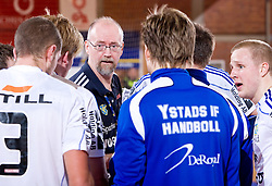 Head coach of Ystads Torben Winther during the 1/ 8 Men's European Handball Challenge Cup match between RD Slovan, Slovenia and Ystads IF, Sweden, on February 21, 2009 in Arena Kodeljevo, Ljubljana, Slovenia. Slovan defeated Ystads 37-27 and qualified to quarterfinals. (Photo by Vid Ponikvar / Sportida)