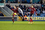 Millwall midfielder Fred Onyedinma (10) battles for possesion with Shrewsbury Town defender Ryan McGivern (04) during the EFL Sky Bet League 1 match between Millwall and Shrewsbury Town at The Den, London, England on 10 December 2016. Photo by Matthew Redman.