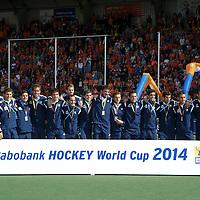 DEN HAAG - Rabobank Hockey World Cup<br /> 38 Final: Australia - Netherlands<br /> Australia wins and is World Champion.<br /> Foto: Argentina team.<br /> COPYRIGHT FRANK UIJLENBROEK FFU PRESS AGENCY