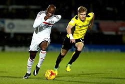 Sone Aluko of Fulham runs with the ball - Mandatory by-line: Robbie Stephenson/JMP - 01/02/2017 - FOOTBALL - Pirelli Stadium - Burton Upon Trent, England - Burton Albion v Fulham - Sky Bet Championship