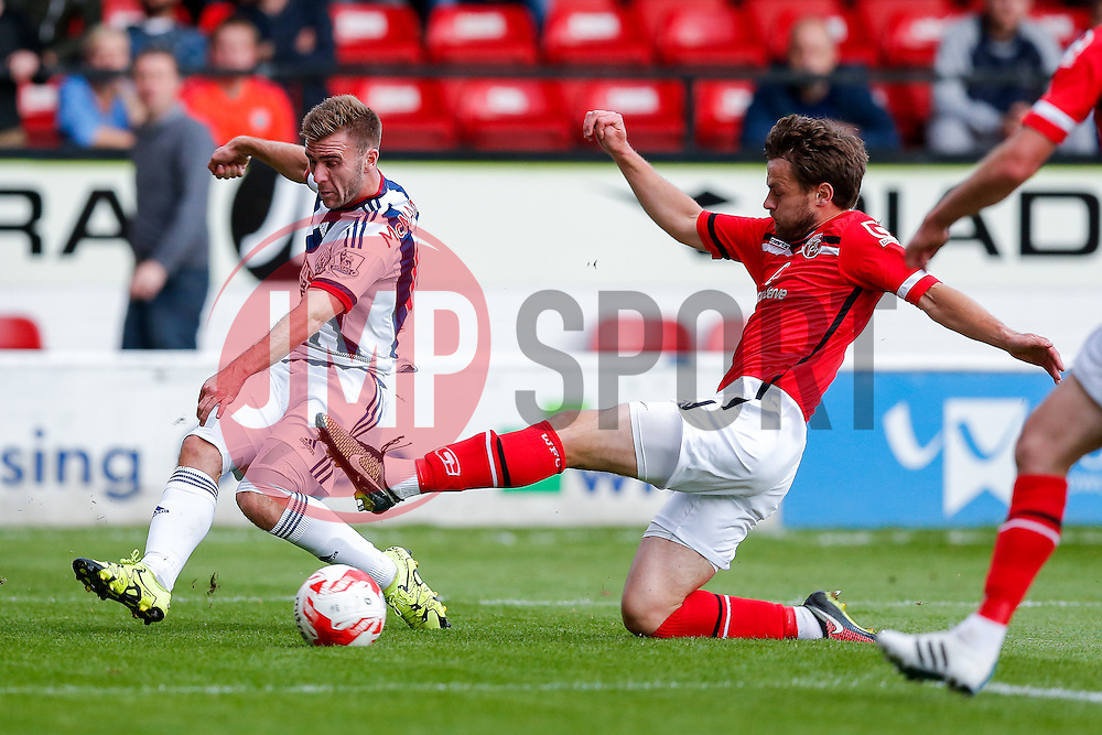 Callum McManaman of West Brom crosses - Mandatory byline: Rogan Thomson/JMP - 07966 386802 - 28/07/2015 - SPORT - Football - Walsall, England - Besot Stadium - Walsall v West Bromwich Albion - 2015/16 Pre Season Friendly.