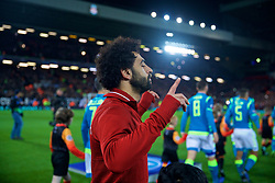 LIVERPOOL, ENGLAND - Tuesday, December 11, 2018: Liverpool's Mohamed Salah before the UEFA Champions League Group C match between Liverpool FC and SSC Napoli at Anfield. (Pic by David Rawcliffe/Propaganda)