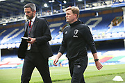Bournemouth Manager Eddie Howe heads to do the post match interviews after the Premier League match between Everton and Bournemouth at Goodison Park, Liverpool, England on 26 July 2020.