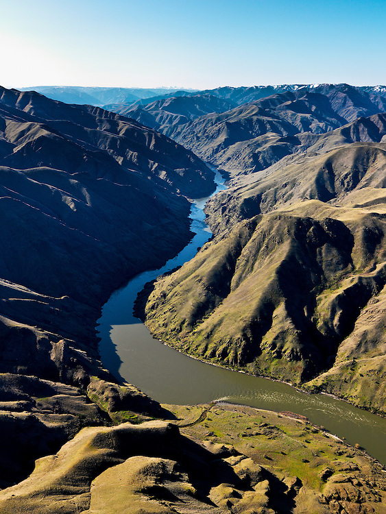 Aerial view of Hells Canyon in Spring time