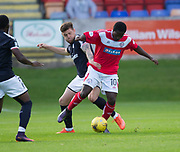 Dundee&rsquo;s Kerr Waddell tackles Brechin's Isaac Layne - Brechin City v Dundee pre-season friendly at Glebe Park, Brechin, Photo: David Young<br /> <br />  - &copy; David Young - www.davidyoungphoto.co.uk - email: davidyoungphoto@gmail.com