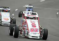 05 MAY 2007: Nick Wagner (93) of Lucas Oil practices in his midget car before the Casey's General Stores USAC Triple Crown at the Iowa Speedway in Newton, Iowa on May 5, 2007.
