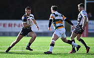 Pontpridds' Alex Webber<br /> Photographer Mike Jones/Replay Images<br /> <br /> Principality Premiership Merthyr v Pontypridd - Saturday 17th February 2018 - The Wern Merthyr Tydfil<br /> <br /> World Copyright &copy; Replay Images . All rights reserved. info@replayimages.co.uk - http://replayimages.co.uk